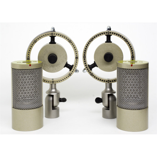 Coles 4050 DM Stereo Ribbon Microphone with Dual Mounts