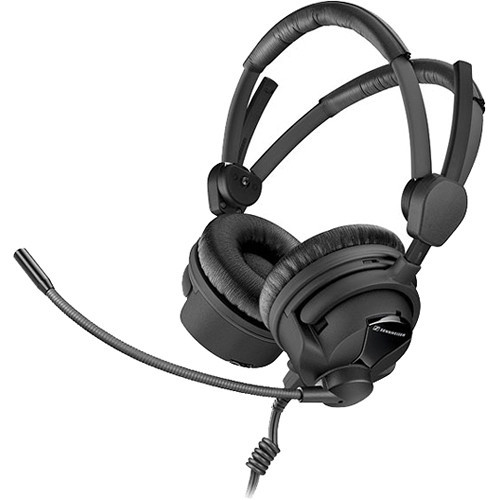Sennheiser HME26-II-100-8 Double-Sided Broadcast Headset with Omnidirectional Mic & Unterminated Cable