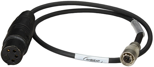 Ambient AK-XLR4F Power Distribution Adapter Cable 4-pin Hirose to XLR-4F