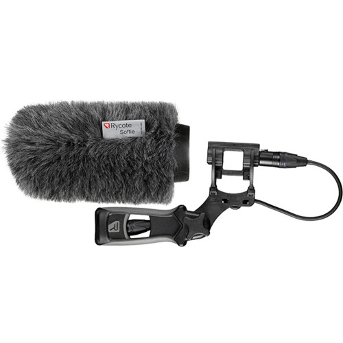Rycote 033353 18cm Classic Softie Kit (24/25mm Mics) with Lyre Mount / Pistol Grip / Cable