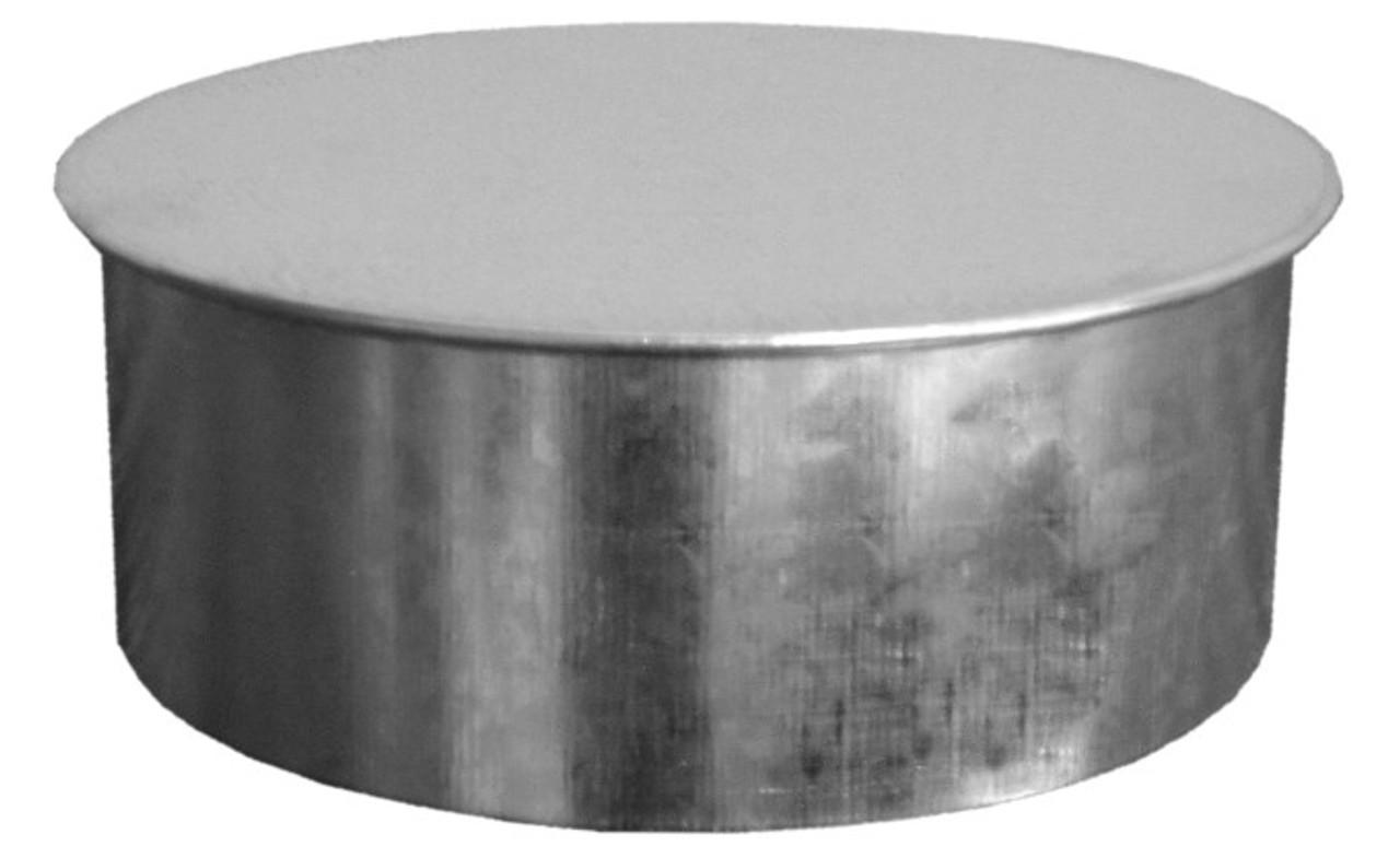 14 Inch Round Duct Cap 26 Gauge Galvanized Sheet Metal