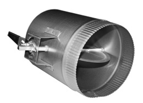 """10"""" Duct Volume Damper Sleeve w/ 1.5"""" Stand-Off Handle"""