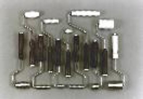 "1-1/4""x 6""x 30deg Aluminum Fiberglass Radius Roller"