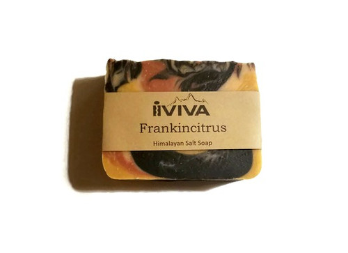Frankincense Citrus Charcoal Salt Soap