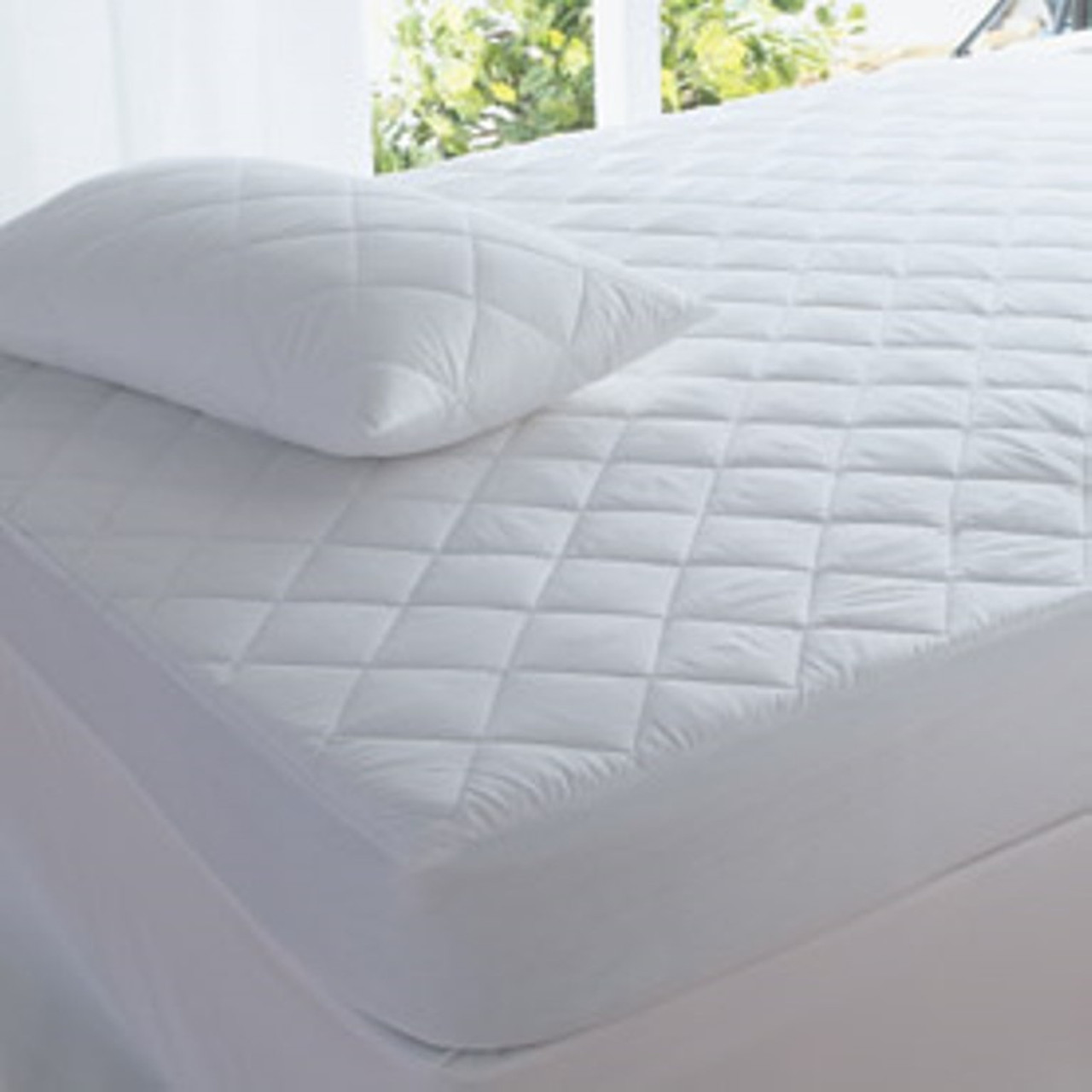 fitted mattress protector. Super King Size Fitted Mattress Protector Quilted - 100% Cotton Healthguard Treated I