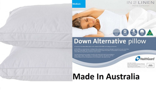 Microloft Microfibre Standard Pillow Medium x 2  Made in Australia