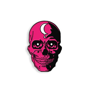 SKULL - THINK PINK ENAMEL PIN
