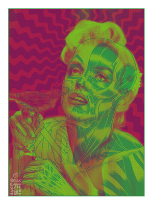 """MARILYN"" PINK GREEN COLORWAY"