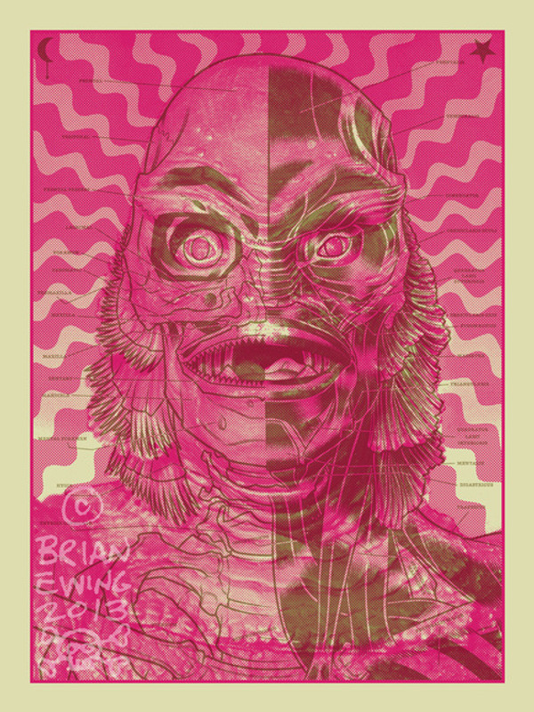 CREATURE ART PRINT Pink and Gold Colorway