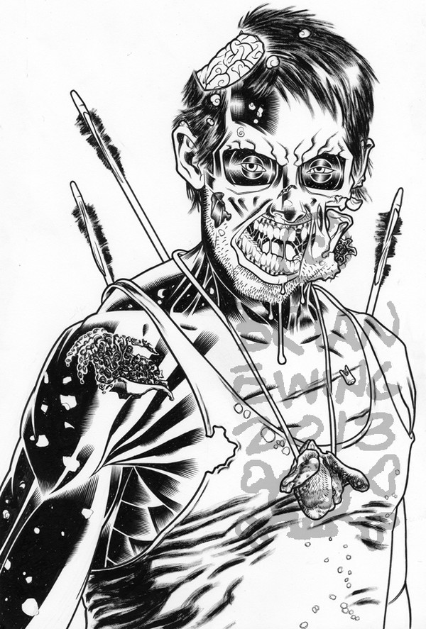 DARYL - WALKING DEAD ORIGINAL ART