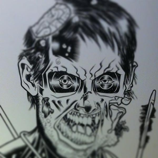 DARYL - WALKING DEAD ORIGINAL ART