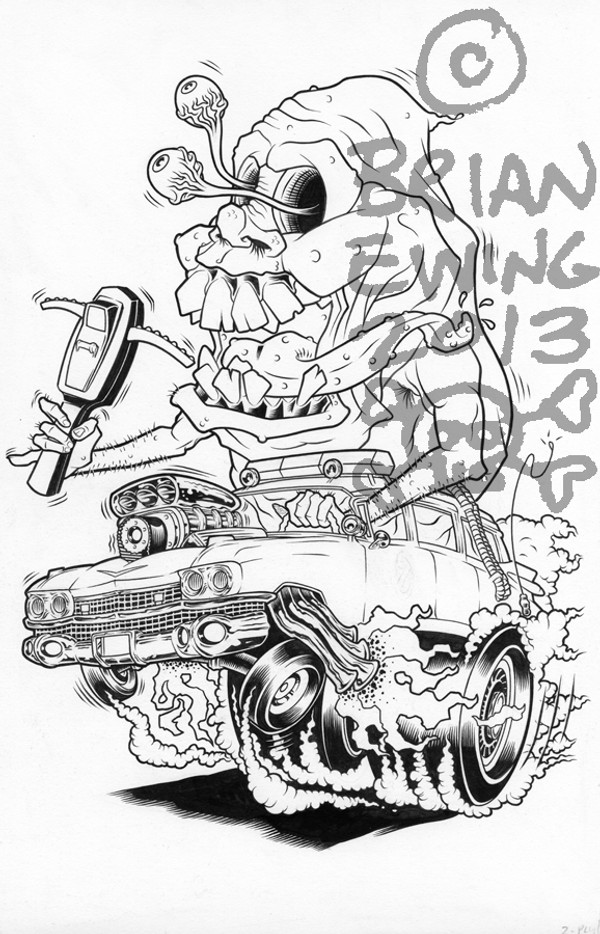 GHOST FINK ORIGINAL ART
