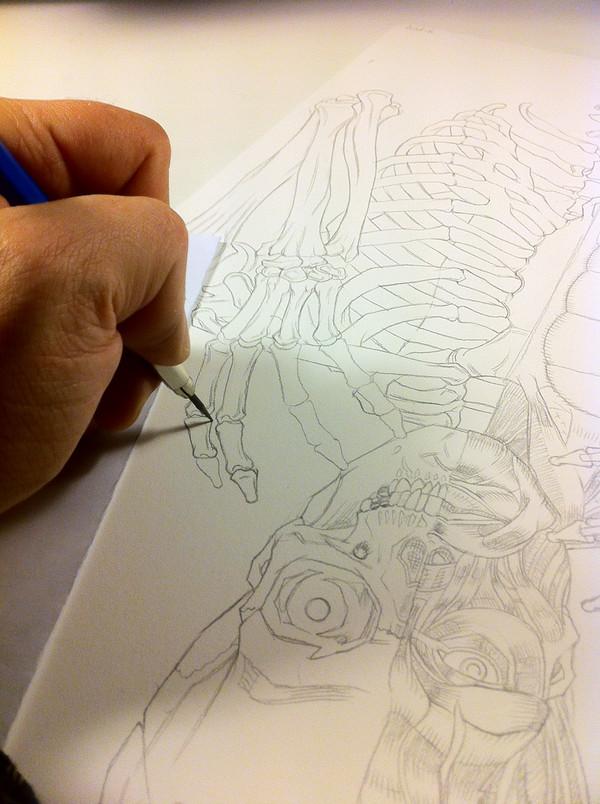 MELVINS / FRANKENSTEIN ORIGINAL ART