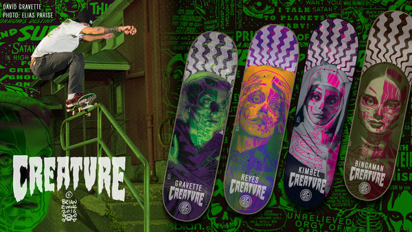 """REYES SKATE DECK"" creature skateboards"