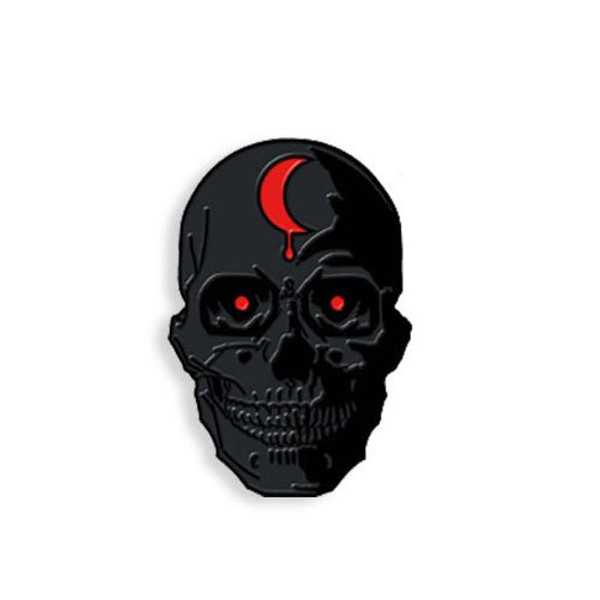 SKULL - MURDERED OUT ENAMEL PIN