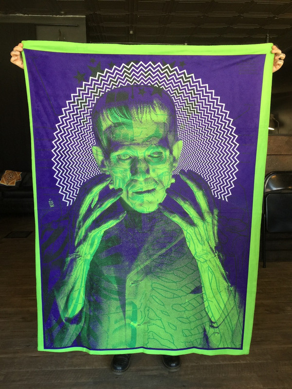 """  THE MONSTER"" GRUESOME GREEN BLANKET"