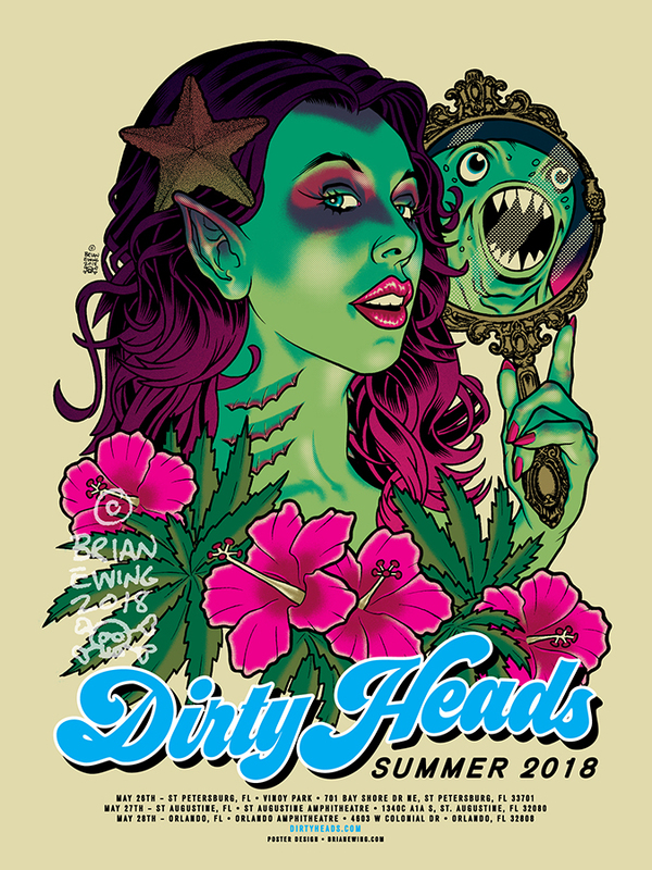 """ DIRTY HEADS"" 2018 ORIGINAL ART"