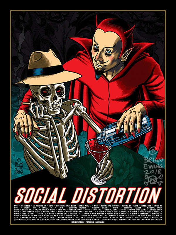 """   SOCIAL DISTORTION"" TOUR POSTER"