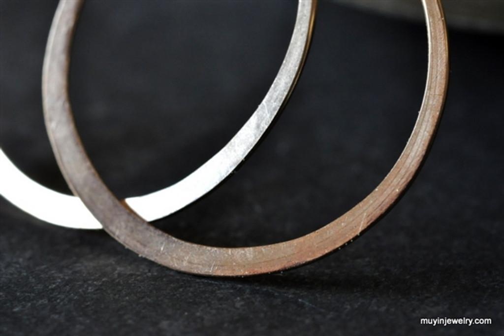 "classic 3/4"" (20mm) artisan forged hoop earrings"