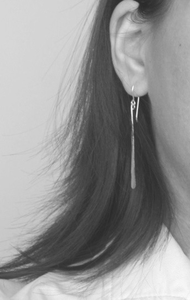 SIMPLY STRAIGHT long and skinny bar earrings