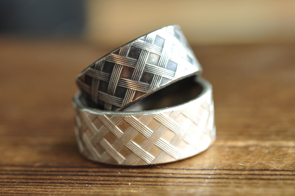 basket weave patter ring | mu-yin jewelry