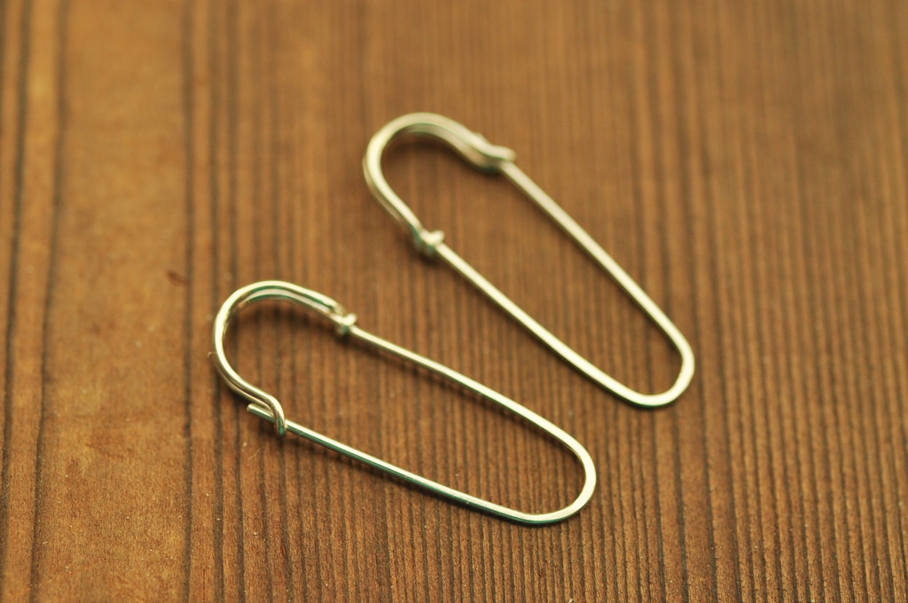 safety pin earrings in sterling silver or 14k gold filled | muyinjewelry.com
