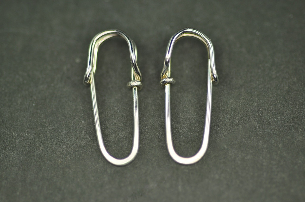 safety pin earrings sterling silver or 18k gold | muyinjewelry.com