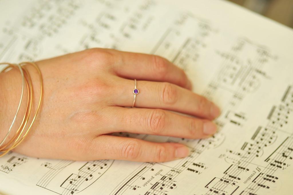 3mm birthstone ring, gemstone ring, mother's ring | muyinjewelry.com