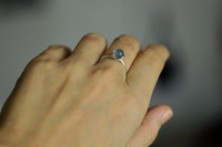 OCEAN DROP blue fluorite wire wrap ring