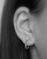 MINI SAFETY PIN earrings
