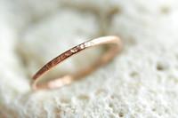 skinny 14k rose gold filled ring
