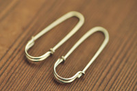 safety pin earrings - solid 14k gold, white gold, rose gold | muyinjewelry.com