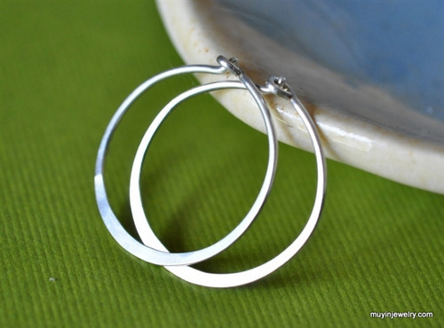 "classic 5/8"" (15mm) artisan forged hoop earrings"