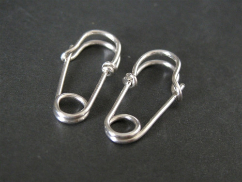 MINI SAFETY PIN earrings sterling silver