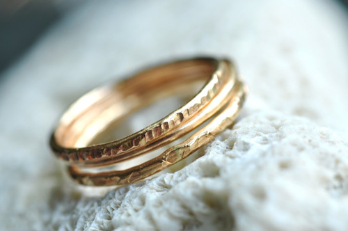 14k gold filled stacking rings
