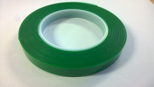 13mm Green Adhesive Printhead Tape 66Mtrs
