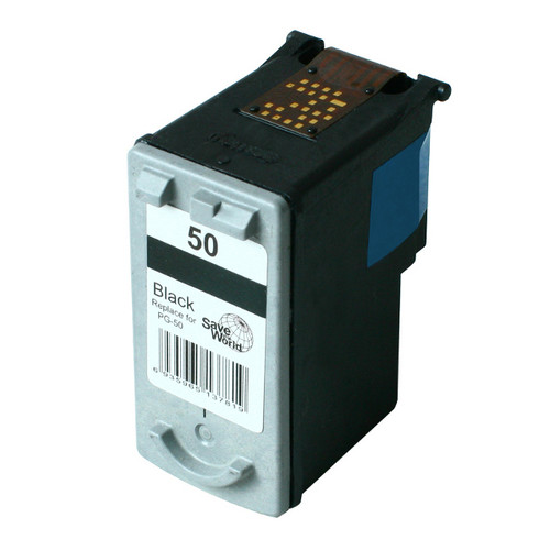 PG50 Remanufactured Inkjet Cartridge with New Chip