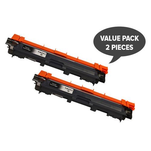 2 x TN-251 Black Premium Generic Toner