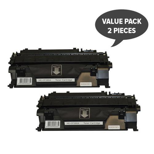 #80A CF280A Premium Generic Toner x 2
