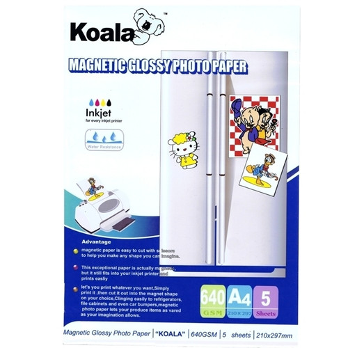 640gm Magnetic A4 Glossy Paper  (5 Sheets)