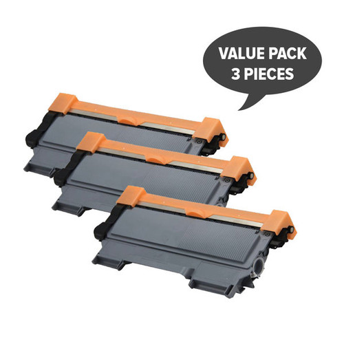 TN-2250 Black Premium Generic Cartridge (Set of 3)