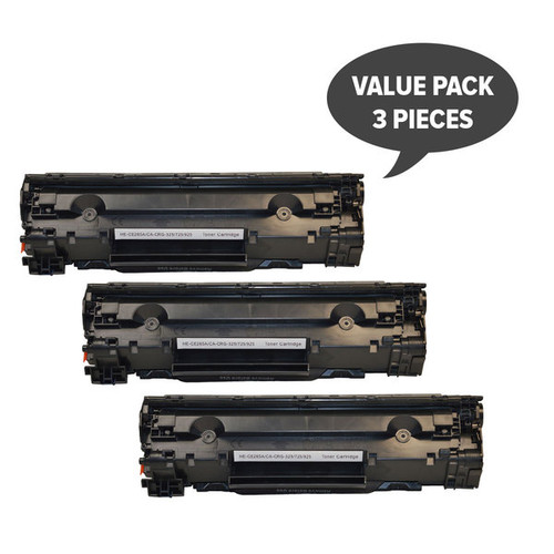 CE285A #85A Cart325 Black Generic Toner  (Set of 3)