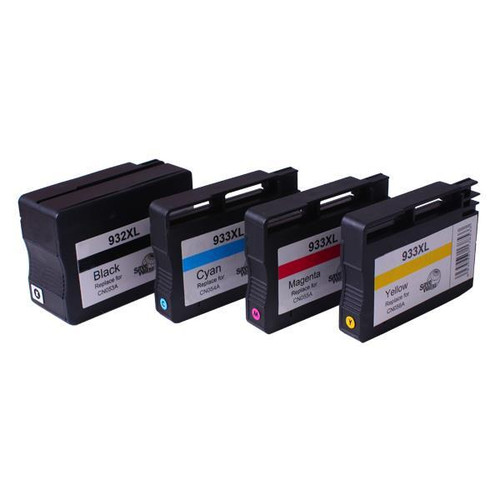 932XL 933XL Remanufactured Inkjet Cartridge Set 4 Cartridges