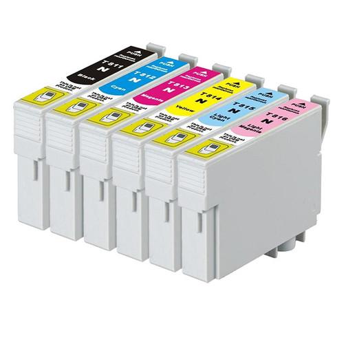 81N Compatible Inkjet Cartridge Set  6 Ink Cartridges [Boxed Set]