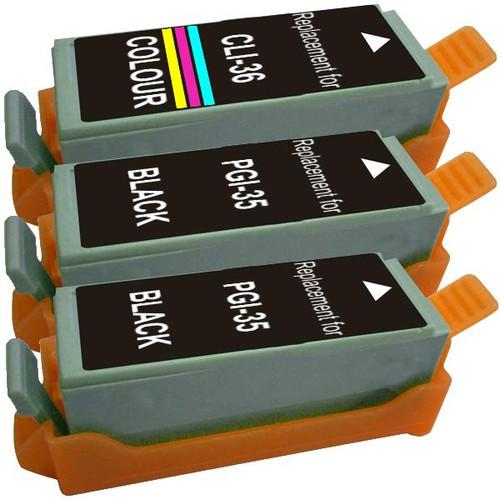 PGI-35 CLI-36 Compatible Inkjet Cartridge Set  3 Cartridges