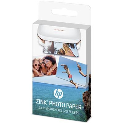"Genuine HP Sprocket Zink Sticky backed Photo Paper W4Z13A (20 sheet, 2""x 3"")"