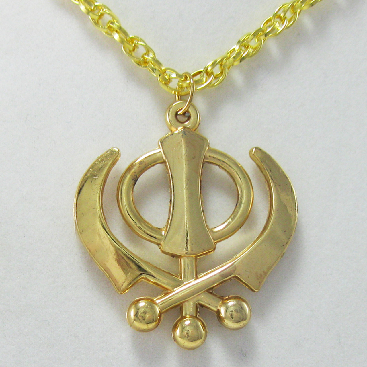Medium gold khanda necklace india town gifts medium gold khanda necklace mozeypictures Images