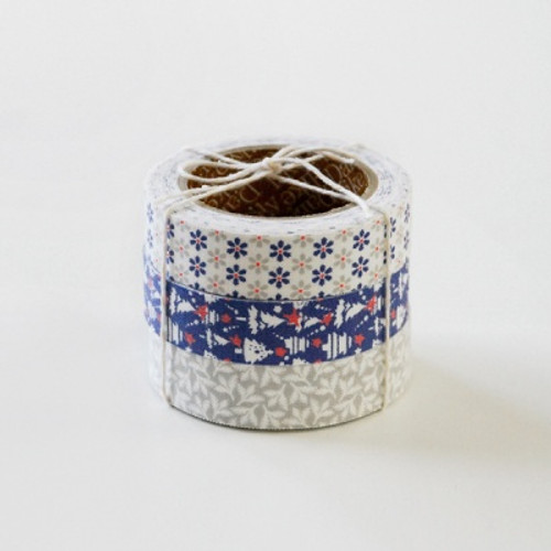 Fabric Tape Set Xmas-Snow bell