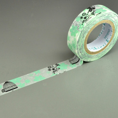 Shinzi Katoh X'mas Masking tape- Flower Bird