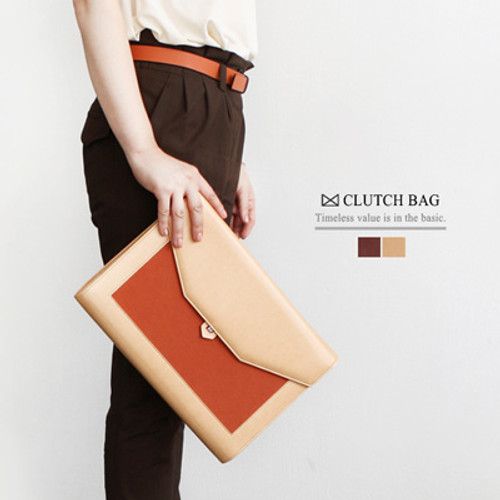 Basic M Clutch Bag